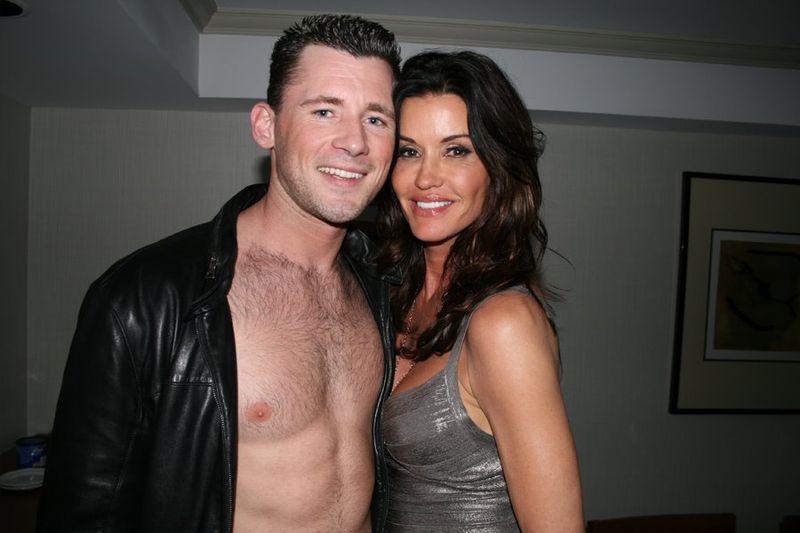 Barrett Long and Janice Dickinson